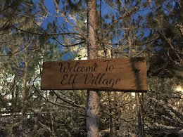 elf village sign
