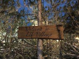 elf village sign