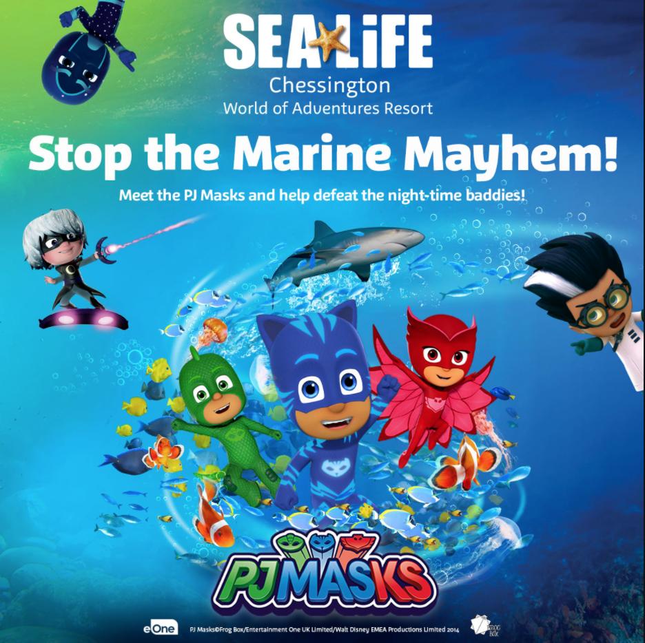 PJ masks at sea life
