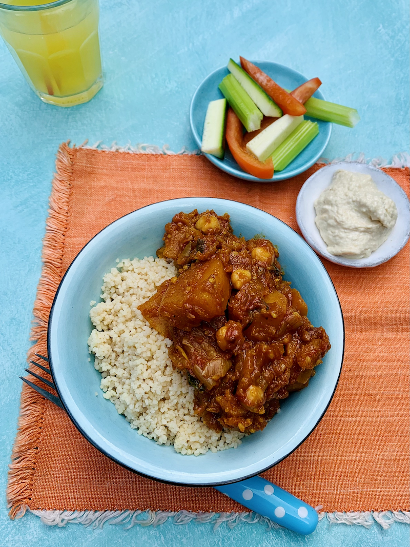 A Moroccan Veggie Stew for family food